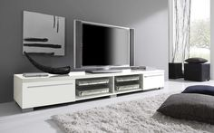 Long+Black+or+White+Contemporary+TV+Stand+Base+in+Lacquers+Washington+DC+VV-MARE-TV+