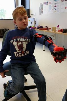 E-nable, volunteers around the world can make prosthetic limbs using their 3D printers.