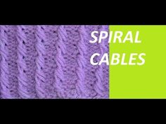 Knit Pattern * SPIRAL CABLE * - YouTube