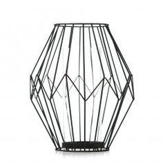 Home Republic Diamond Wire Lantern Black, lantern, wire lantern