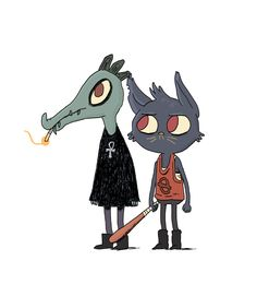 Little morning warm up drawing feat. some characters from Night in the Woods, Alec Holowka and Scott Benson's amazing looking game which you should back on Kickstarter.Because if you follow me, I can assume you like sentimentality, romance, wonderment and video games so there's a pretty much a 100% chance that you're going to buy this game anyway. Back the Kickstarter or follow Night in the Woods on twitter for more info.