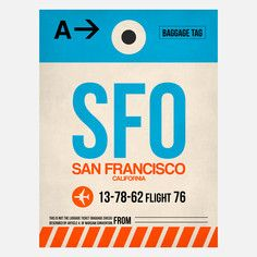 SFO San Francisco Baggage Tag, $39, now featured on Fab.