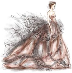 skizzen zeichnen – Keep up with the times. Fashion Drawing Dresses, Fashion Illustration Dresses, Fashion Illustrations, Fashion Design Drawings, Fashion Sketches, Couture Fashion, Fashion Art, Instagram Mode, Zeina