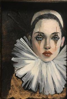 Es Der Clown, Le Clown, Drawing Sketches, Art Drawings, Galaxy Drawings, Clown Paintings, Pierrot Clown, Send In The Clowns, Vintage Circus
