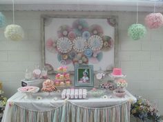 Shabby chic party, first birthday