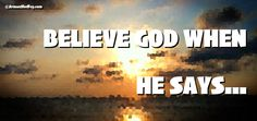 Believe God Facebook Cover (feel free to use)