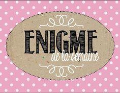 Affiche énigme de la semaine http://laclassedekarine.blogspot.ca/