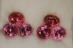 Cynthia Renee suite of pinkish spinels.