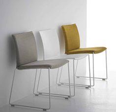 Sled base stackable chair By MDF Italia design Piergiorgio Cazzaniga Fine Furniture, Furniture Design, Kitchen Furniture, Luxury Furniture, Garden Furniture, Side Chairs, Dining Chairs, Kitchen Chairs, Sofa Colors