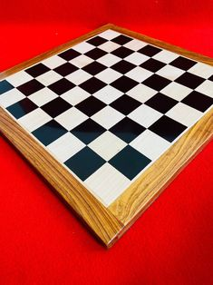 "21""X 21"" Inch Handmade Ebony Wooden Premium Quality Flat Chess Board Lacquered Chess Board Design for Professional Players. Christmas Gift."