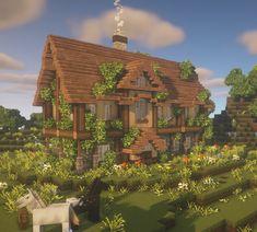 Minecraft Castle Blueprints, Minecraft Templates, Minecraft House Plans, Cute Minecraft Houses, Minecraft House Designs, Minecraft Bedroom, Minecraft Tutorial, Minecraft Creations, Minecraft Projects