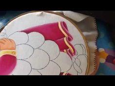 Pintura en tela niña uva # 5 con cony - YouTube