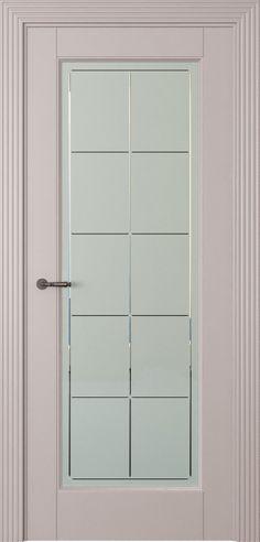 Toscana-5 (со стек.) белое стекло, решетка, светло-серый