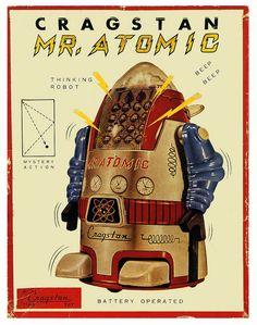 Mr Atomic, The Thinking Robot 1950's