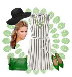 """""""Green with Envy"""" by curvygirlamy ❤ liked on Polyvore featuring Dorothy Perkins, MICHAEL Michael Kors, Moschino and Monet"""