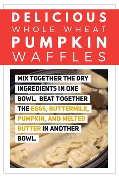These Whole-Wheat Pumpkin Waffles are SO delicious and perfect for fall! This will be one of your favorite fall pumpkin recipes! Pumpkin Breakfast, Pumpkin Waffles, Pumpkin Dessert, Breakfast Ideas, Pumpkin Recipes, Fall Recipes, Healthy Snacks, Healthy Recipes, Freezer Cooking