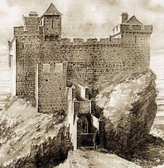Before it was in ruins: Dunscaith Castle (McQuiston)