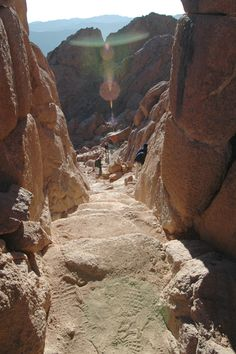 Coming down Mt. Sinai... could this have been the path of Moses when he came down with the Ten Commandments?