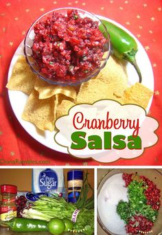 Easy Fresh Cranberry Salsa Recipe - Make this amazing fresh cranberry salsa recipe, which  is sure to be a hit at all your holiday gatherings. #cranberry #salsa