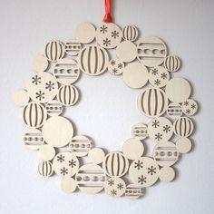 Bauble Wreath Modern Christmas Decoration