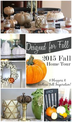 8 bloggers invite you into their home and show you their fall decor! - www.refashionablylate.com