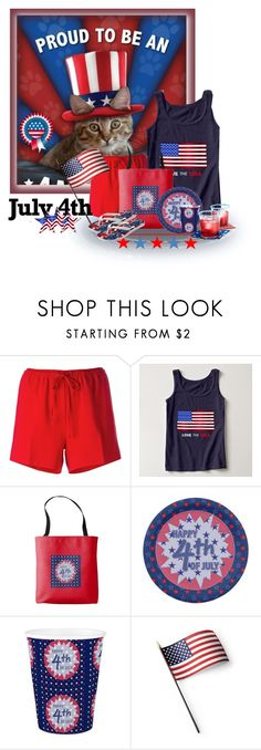 Red White and Blue - 4th of July Outfit by sgolis on Polyvore featuring Alexander Wang, Grandin Road, redwhiteandblue, 4thofjuly, summeroutfit and zazzleoutfit