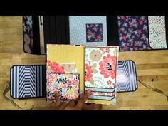 ▶ DCWV Coral and Navy Memory Folio - YouTube