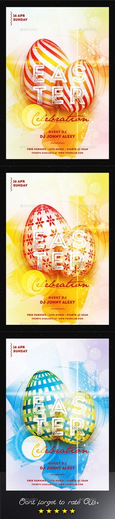 Happy Easter Flyer Template 4 Pinterest Flyer template and Template