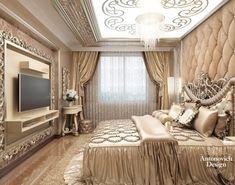Baroque Home Decor Luxury Homes Interior, Luxury Home Decor, Luxury Apartments, Home Interior, Bedroom False Ceiling Design, Luxury Bedroom Design, Home Room Design, Royal Bedroom, Modern Master Bedroom