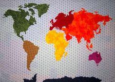 Resultado de imagen de world map quilts