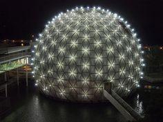 Cinesphere at Ontario Place, Toronto. Designed by Eberhard Zeidler
