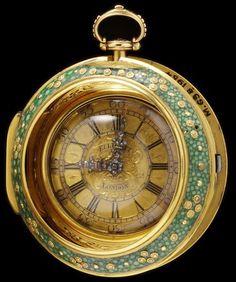 Shagreen And Gilt Metal Watch - London, England  c.1753