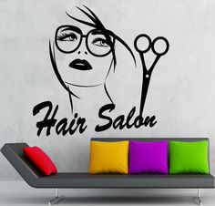 Wall Sticker Vinyl Decal Hair Salon Stylist by Wallstickers4you