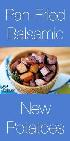 Yumm! Pan fried balsamic new potatoes - delicious!!