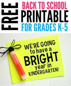FREE gift tags for back to school.  Printable for K-5