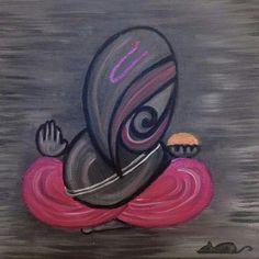 Form of Ganesha Ganesha Painting, Ganesha Art, Simple Wall Art, Easy Wall, Happy Wallpaper, Colorful Rangoli Designs, Art Drawings Sketches Simple, Art N Craft, Hindu Art
