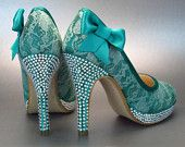 Lace Wedding Shoes, Lace Wedding, Blue Lace Shoes, Custom Wedding Shoes, Jade Wedding, Jade Wedding Shoes, Crystal Heel Shoes