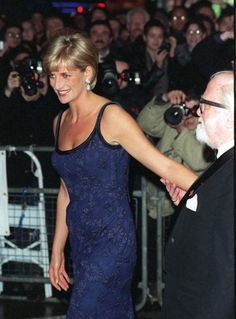 Princess Diana attends the premiere of the film 'In Love and War' at the Empire in Leicester Square in aid of the British Red Cross, February 12, 1997.