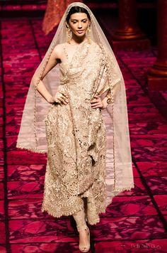 Delhi Style Blog: Suneet Varma India Bridal Fashion Week 2013 The Golden Bracelet