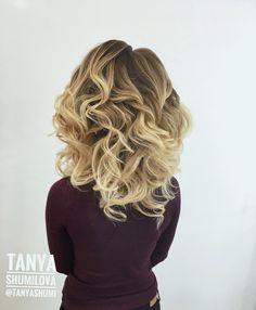 Локоны нежная свадебная Прическа на средние волосы . Hair Tanya Shumilova