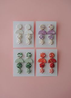 Diy Earrings Polymer Clay, Handmade Polymer Clay, Earrings Handmade, Handmade Jewelry, Modern Jewelry, Jewelry Trends, Statement Jewelry, Bridesmaid Gifts, Jewelry Stores