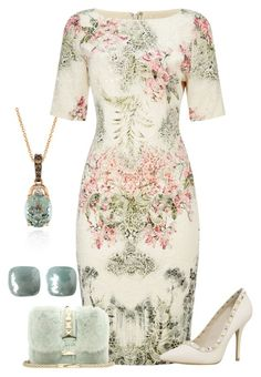 A fashion look from April 2016 featuring short-sleeve maxi dresses, high heeled footwear and clear handbags. Browse and shop related looks. Classy Outfits, Pretty Outfits, Pretty Dresses, Beautiful Outfits, Pink Dress Outfits, Dress Up, Looks Chic, Estilo Fashion, Frack