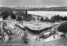 Das Bellevue mit wirklich sehr schöner Aussicht, 1950. Switzerland, Past, Archive, Nice Asses, Photo Illustration