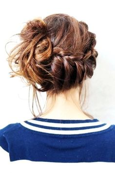 braided up-side-do