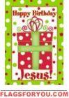 Happy Birthday Jesus Garden Flag