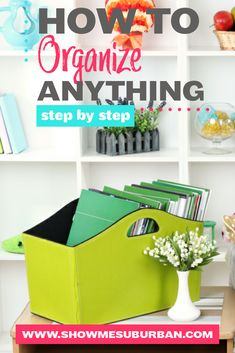 Want to get organized, but not sure how? Check out this simple step by step process for how to organize any area of your home! These tips and ideas will help you declutter, purge, and organize your way to bliss! Game Organization, Kitchen Organization, Declutter Your Home, Organizing Your Home, Organized Kitchen, Home Management Binder, Family Organizer, Record Storage, Getting Organized