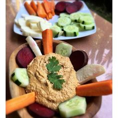 Sundried tomato and sprouted pumpkin seed pate with veggie crudité. Stacked with tons of fresh ginger, chilli powder, tahini, sprouted seeds, carrots, and garlic blended with water. Obsessing over the fresh #organic produce we can get in #Bali. Crisp and popping with flavor. Yeeeeo eat more rainbows. #sproutlife #plantbased #livingfoods #lowglycemic #glutenfree #dairyfree #dips #rawfoodchef #rawfood #vegetarian #veggielife #rawveganfoodshare #plantpowered #plantprotein #fitfood #ubud…