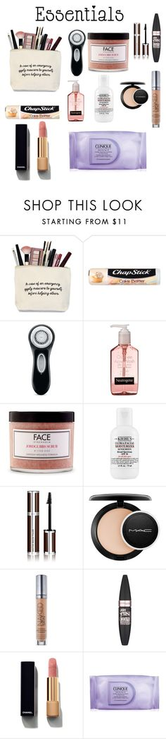 """""""my staples"""" by cuteylish ❤ liked on Polyvore featuring beauty, Chapstick, Clarisonic, FACE Stockholm, Givenchy, MAC Cosmetics, Urban Decay, Maybelline, Chanel and Clinique"""