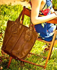 Jory Flower Tassel Tote Bag By Roxbury Nicolelee Totebags Handbags