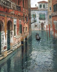 View of Venice-Frits Thaulow.